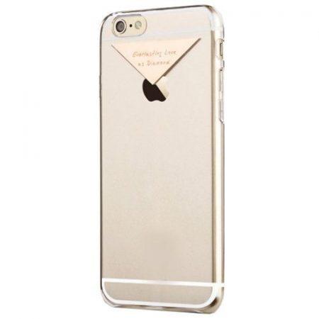 Apple iPhone 6 USAMS Dazzle műanyag hátlap, tok fém felirattal, vörös arany