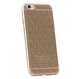 Apple iPhone 6, TPU szilikon tok, gyémántminta, USAMS Gelin Diamond 3D, átlátszó-fekete