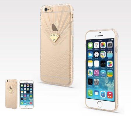 Apple iPhone 6, átlátszó TPU hátlap ,tok, USAMS Fan Series, Sea wave, átlátszó
