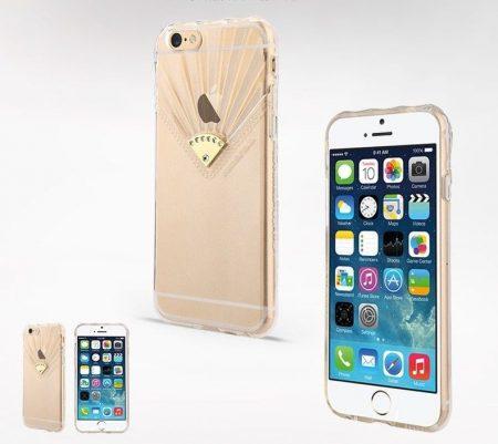 Apple iPhone 6, átlátszó TPU hátlap ,tok, USAMS Fan Series, Pure, átlátszó