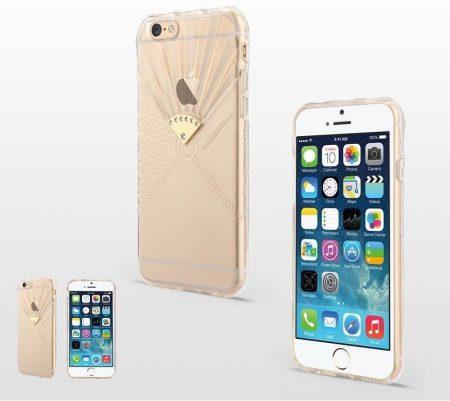 Apple iPhone 6, átlátszó TPU hátlap ,tok, USAMS Fan Series, Sprout, átlátszó