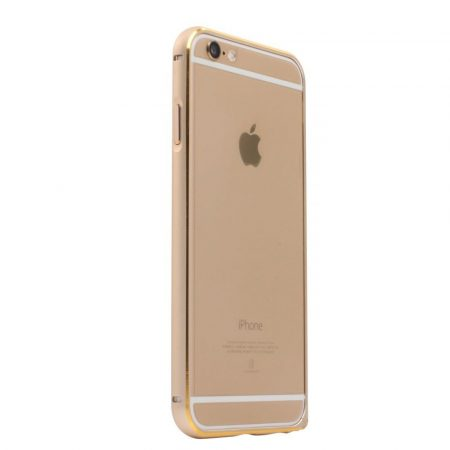 Apple iPhone 6, Aluminium Bumper, USAMS Arco Golden-Series tok,double-colour, arany-arany