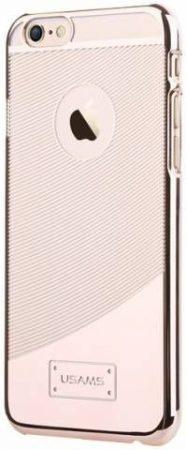 Apple iPhone 6, átlátszó műanyag hátlap ,tok, USAMS E-plating, arany