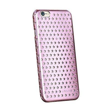 Apple iPhone 6 Plus, Műanyag hátlap védőtok, USAMS Starry Twinkle, csillagminta, rózsaszín
