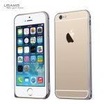 Apple iPhone 6, Aluminium Bumper, USAMS Arco Golden-Series tok,double-colour, sötétszürke-arany