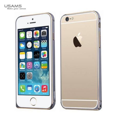 Apple iPhone 6 Plus, Aluminium Bumper, USAMS Arco Golden-Series,double-colour, fémszürke