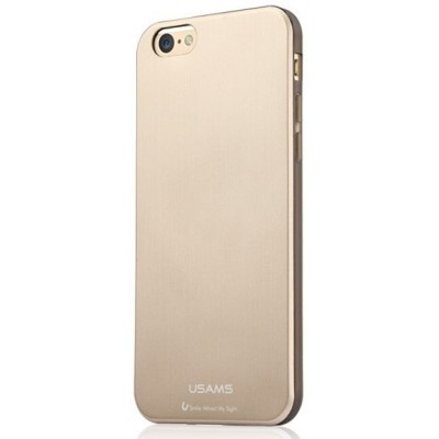 Apple iPhone 6, USAMS Metallica oldalt átlátszó, hátul fémes hatású TPU tok, arany