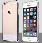 Apple iPhone 6 Plus, átlátszó műanyag hátlap ,tok, USAMS O-plating, ezüst