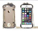 Apple iPhone 6, Műanyag+Aluminium hátlap, USAMS Miss Rococo tok, átlátszó-fekete