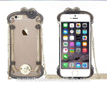 Apple iPhone 6, USAMS Miss Rococo hátlap, tok, átlátszó-fekete