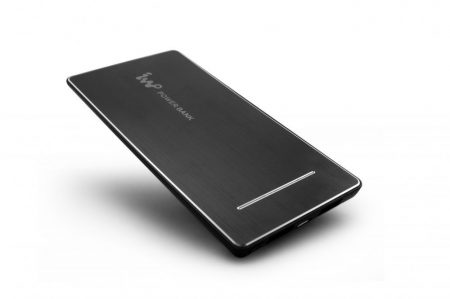 IWO P28SB Li-Polimer ultravékony Power Bank, hordozható külső akkumulátor, Dual-USB, 5600mAh, fekete