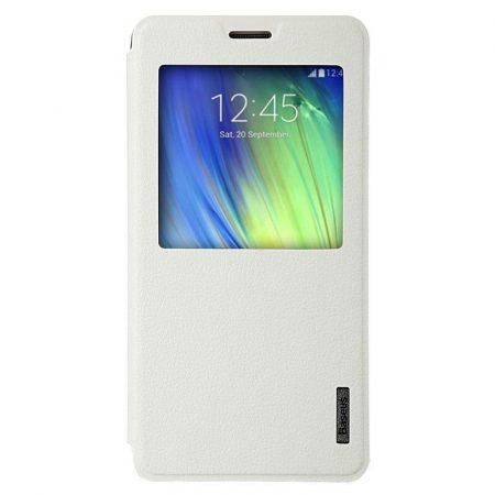 Baseus Primary Color Samsung Galaxy A7 oldalra nyíló tok, flip tok, fehér