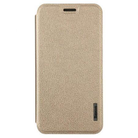 Baseus Primary Color Samsung G5108Q oldalra nyíló tok, flip tok, arany