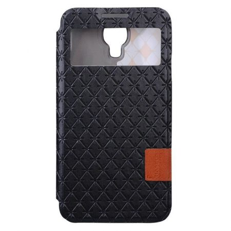 Baseus Brocade Samsung Galaxy J (N075T) oldalra nyíló tok, fekete