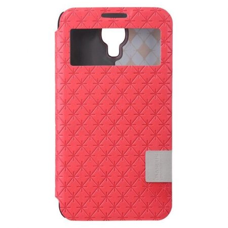 Baseus Brocade Samsung Galaxy J (N075T) oldalra nyíló tok, flip tok, piros