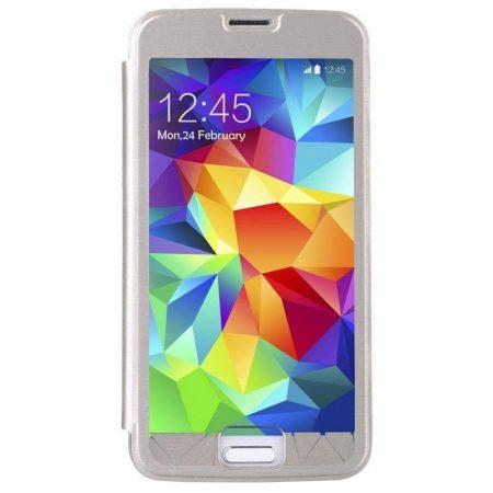 Baseus Coloured Glaze Samsung Galaxy S5 oldalra nyílótok, arany