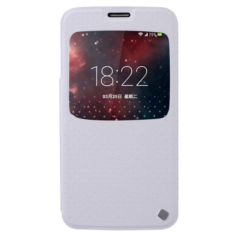 Baseus Samsung Galaxy S5 Finder Flip Cover Case Weiß Log On