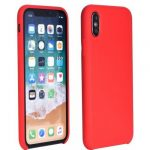 Forcell Silicone Soft Case Huawei P40 Lite E hátlap, tok, piros