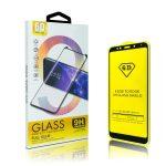 Glass LG Q60/K50 6D Full Glue teljes kijelzős edzett üvegfólia (tempered glass) 9H keménységű, tokbarát, fekete
