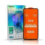 Glass Huawei P Smart (2021)/Y7A 6D Full Glue teljes kijelzős edzett üvegfólia (tempered glass) 9H keménységű, tokbarát, fekete