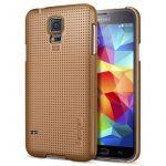 Spigen Samsung Galaxy S5 Ultra Fit Case hátlap, tok, réz arany