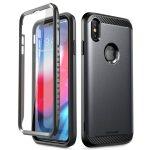 Supcase UB Neo iPhone Xs Max ütésálló elő-hátlap tok, fekete
