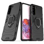 Armor Ring Samsung Galaxy S21 ütésálló hátlap, tok, fekete