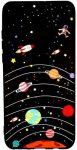 Slim Case Art Planet Samsung Galaxy A7 (2018) A750 szilikon hátlap, tok, mintás, fekete