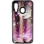 Glass Art Style 2 Samsung Galaxy A70 hátlap, tok, mintás, lila