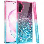 Diamond Liquid Case Samsung Galaxy S10 Lite Diamond Liquid hátlap, tok, rózsaszín-kék