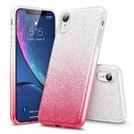 Glitter Case Huawei P30 lite hátlap, tok, ezüst-pink