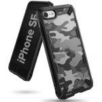 Ringke Fusion X iPhone 7/8/SE (2020) hátlap, tok, mintás fekete