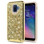 Zizo Full Diamond Hybrid Samsung Galaxy A6 (2018) hátlap, tok, arany