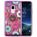 Zizo Liquid Glitter Star Case Samsung Galaxy S9, fánk mintás, rózsaszín