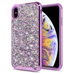 Zizo Full Diamond Hybrid iPhone X/Xs hátlap tok, lila