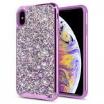 Zizo Full Diamond Hybrid iPhone X/Xs hátlap tok, lila