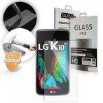 LG K10 kijelzővédő edzett üvegfólia (tempered glass) 9H keménységű (nem teljes kijelzős 2D sík üvegfólia), átlátszó
