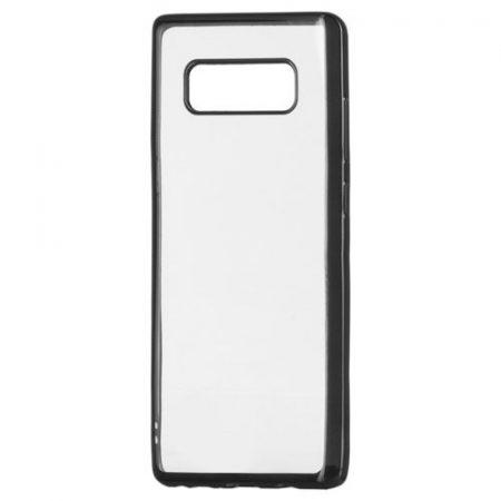 Samsung Galaxy Note 8 N950 Metalic Slim TPU hátlap, tok, fekete