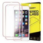 iPhone 6 Plus/6S Plus Wozinsky iPhone elő+hátlapi 3D teljes kijelzős edzett üvegfólia 9H keménységű alumínium kerettel, rozé arany