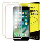 Wozinsky elő+hátlapi 3D teljes kijelzős edzett üvegfólia 9H keménységű alumínium kerettel, iPhone 7 Plus/8 Plus, arany