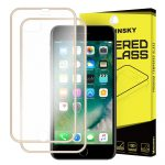 iPhone 7 Plus/8 Plus Wozinsky elő+hátlapi 3D teljes kijelzős edzett üvegfólia 9H keménységű alumínium kerettel, arany