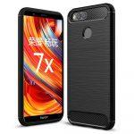 Carbon Case Flexible Huawei Honor 7X hátlap, tok, fekete