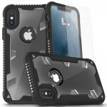Zizo Proton Armor iPhone X hátlap, tok és 3D teljes kijelzős edzett üvegfólia, fekete-átlátszó