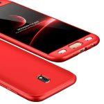 Full body case 360 Samsung Galaxy J7 (2017) hátlap, tok, piros