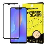 Wozinsky Huawei P Smart Plus Pro Glass Screen 5D Full Glue teljes kijelzős edzett üvegfólia (tempered glass), 9H keménységű, tokbarát, fekete