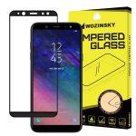 Wozinsky Samsung Galaxy A6 (2018) 5D Full Glue teljes kijelzős edzett üvegfólia (tempered glass) 9H keménységű, tokbarát, fekete
